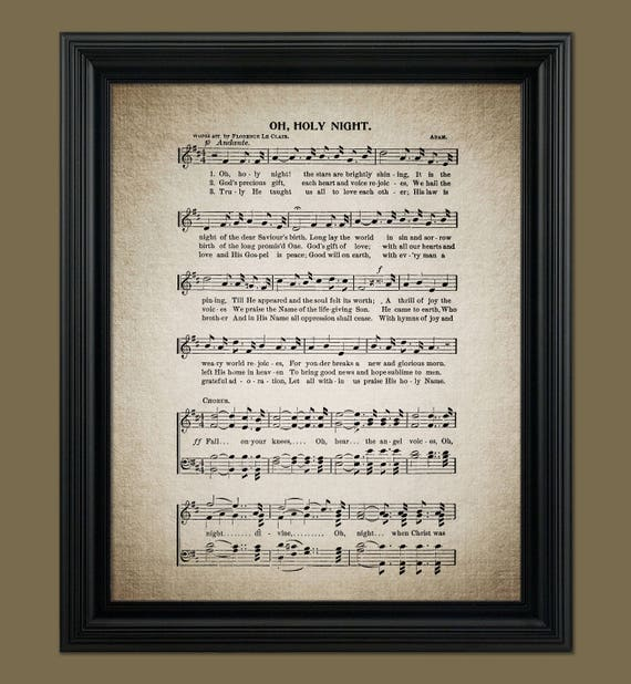 Oh Holy Night Christmas Song Lyrics Christmas Sheet Sheet