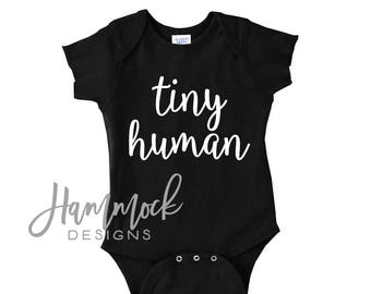 tiny human, tiny human bodysuit, tiny human outfit, baby gift, first outfit, baby shower gift, tiny humans, coming home outfit
