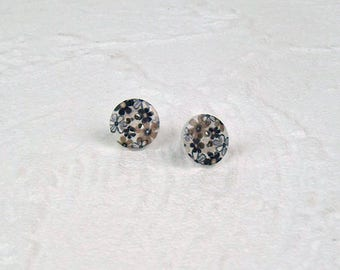Studs Button Flower Stainless steel