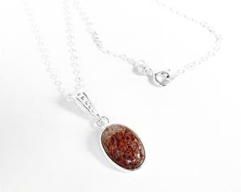 Dinosaur Bone Necklace in Sterling Silver