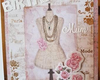 Handmade Mum Birthday Card