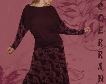 Dress long 'pretty plum...'