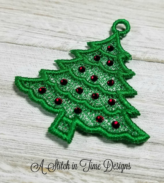 Fsl Christmas Tree Charms Machine Embroidery Design