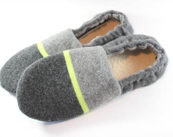 Cozy Gifts- Dad Gifts- Gift for Men- Minimalist- Husband Gift- Teen Gift- College Student Gift- Wool Slippers- Fathers Day Gift for Him