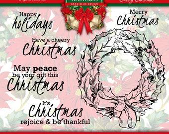 Cheery Christmas Digital Stamp Set