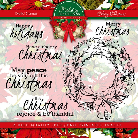Graciellie Design Cheery Christmas digi stamps