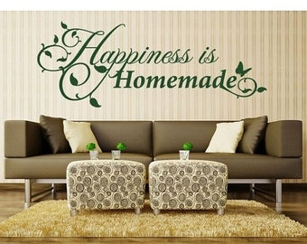 20% OFF Summer Sale Happiness is Homemade wall decal, sticker, mural, vinyl wall art