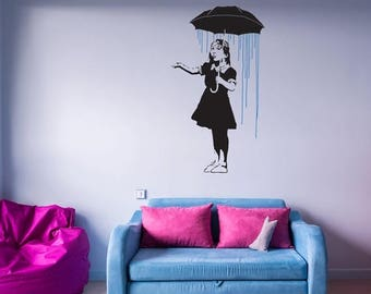 Banksy Wall Decal Etsy - Locations where sell wall decals
