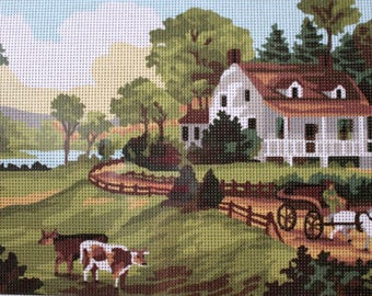 Needlepoint tapestry kit, FARMHOUSE, 40 x 30 cm, E122