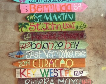 12 PACK* Travel Destination Directional Mileage Signs