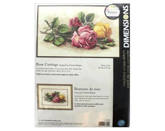 Dimensions® Rose Cuttings Counted Cross-Stitch Kit