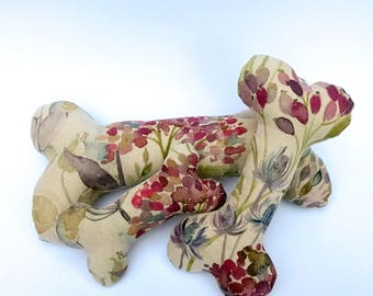 Watercolour Floral Squeaky Dog Bone
