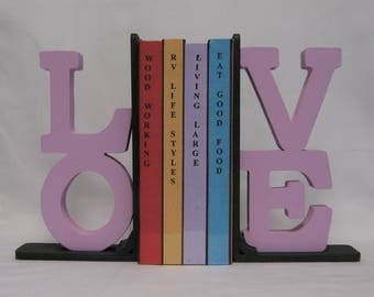 The Word LOVE Silhouette Bookends - 37.95 Two Piece Set