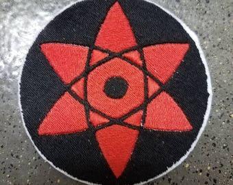 Naruto Sasuke Mangekyou Sharingan Sew on Patch