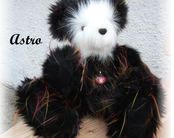 Astro - One of a Kind  Handsewn Teddy Bear