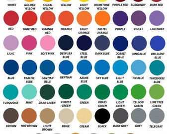 10 Ft Rolls of Oracal 651 Vinyl - ships within 24 hours!  LOTS of colors to choose!