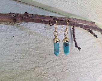 gemstone point earrings