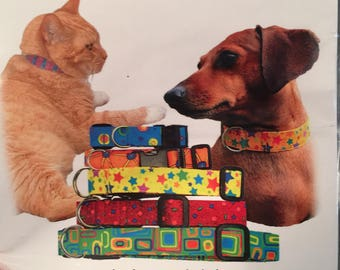 Playful Pet Collars Sewing Pattern with Hardware