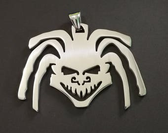 "MIP-  ""Dreadlock Crazy Clown "" Stainless Steel pendant w/30 inch ball chain"
