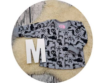 Shirt, sweater, baby shirt, American neckline, long sleeve shirt, long sleeve, gift, baby, Mitwachsen shirt, animals, Zoo, Zoo animals, hipster
