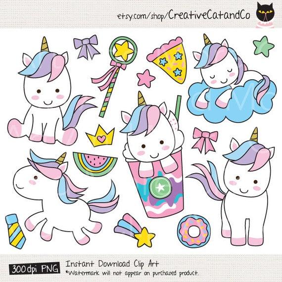 Cute Unicorn Clipart Cute Unicorn Clip Art Unicorn Digital