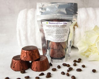 Coffee Lovers Gift - Shower Steamers - Coffee Gift - Aromatherapy Shower - Coffee Shower Steamers - Shower Bomb - Shower Melt - Shower Fizzy