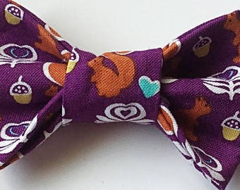 Squirrel Bow Tie for Dog or Cat Collar