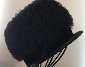 Vintage Voguemont Black with Bow Hat