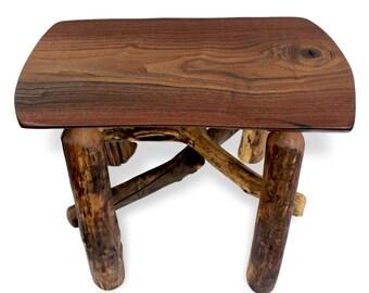 Entryway Bench, Wood Slab Bench, Reclaimed Wood Bench, Rustic Bench, Small Wood Bench, Rustic Furniture, Live Edge Slab Bench, Walnut Bench
