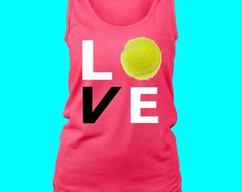LOVE Tennis Tank Top for Ladies Tennis-Triblend  Shirt