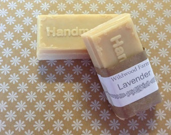 Maine Lavendar Goats Milk Handmade Soap - 2 Bars