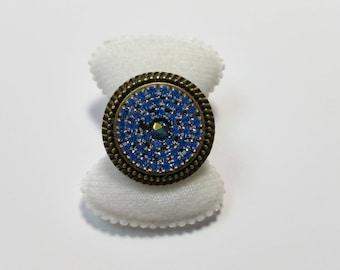 """Ring """"Glitter Blue"""""""