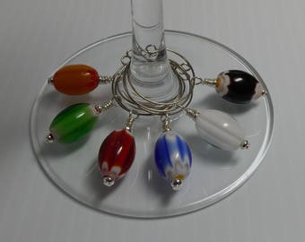 Wine Glass Charms - The Trade Bead Collection