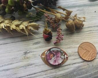 Little Doof. Copper and Resin connector. Art beads. Jewellery Making. Twinkiedinky. Purple flower doof.