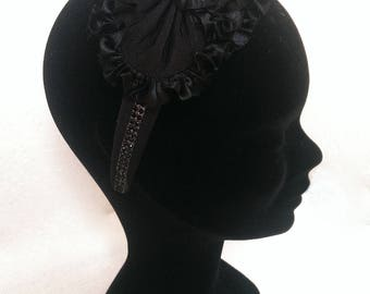 "Headband black model ""Black Swan"""