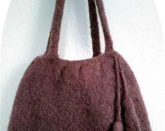 Hand felted bag
