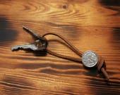 Fiorino leather keychain...