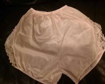 Vintage Pink Lady Grace Lacey Tap Pants Size L