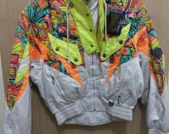 SALE Vintage Sun Phenix pro players bomber pullover ski jacket