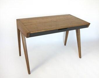 Oak wood computer desk, laptop desk, office table, writing table desk,  office