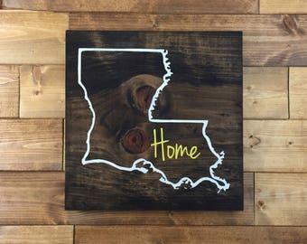 Pick Colors, Louisiana Wood Sign, Louisiana sign, Louisiana state sign, Louisiana gift, Louisiana art, New Orleans art, Louisiana decor