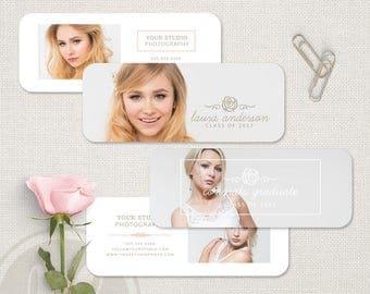Senior Rep Card Template - Senior Rep Cards, Senior Marketing Rep Card Template, Senior Photography Rep Card, Senior Referral Card Template