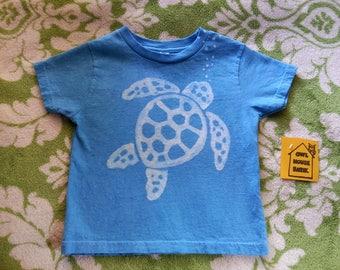 Batik Blue 4T Sea Turtle Tshirt
