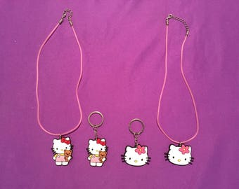Hello Kitty PVC Kids Necklaces or Keychains, Party Favors