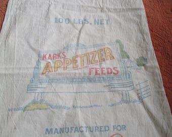 Vintage Advertising Feed Sack