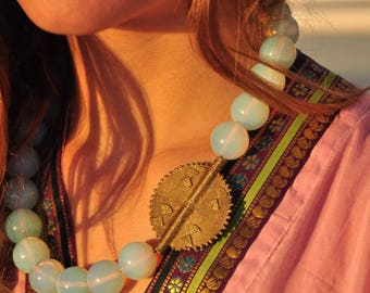 Opalite amulet necklace