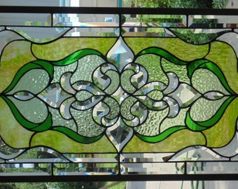 Stained Glass Window Hanging 32 3/4 X 19