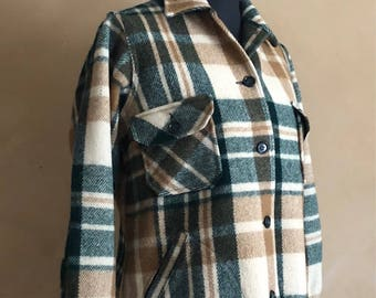 Vintage L.L Bean Wool Coat 60's/70's Plaid