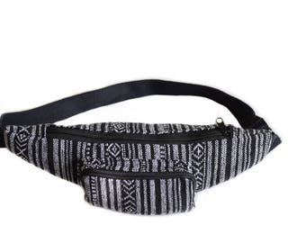 Hip bag, Woven cotton Bum bag, Fanny pack