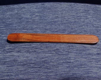 Handmade 'rosewood' bookmark with rounded ends - gorgeous wooden bookmark - perfect gift for book lover - sold within E. U. only
